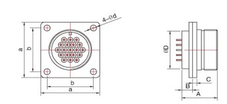 yqm气密封圆形航空插头----泰兴市领航电连接器有限